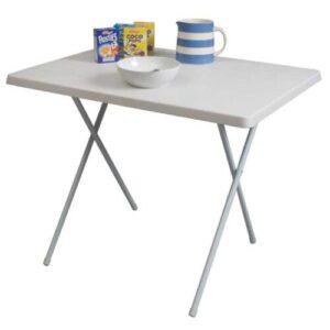 Duplex Plastic Table - White