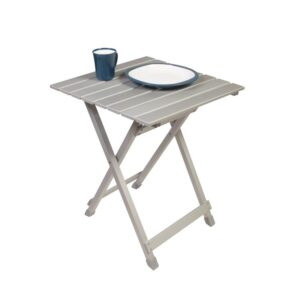 Leaf Folding Slat Side Table